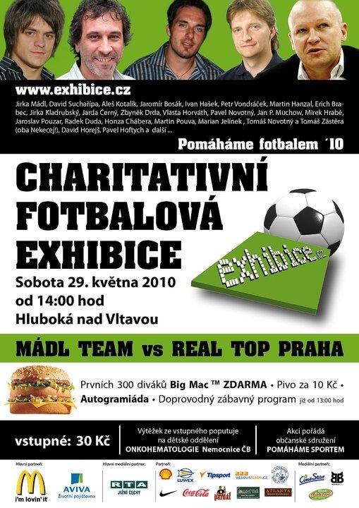 charitativní fotbalová exhibice 2010
