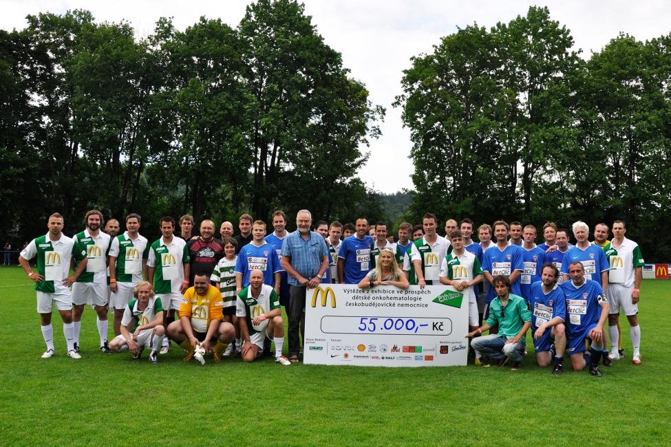 Fotbalová exhibice přinesla dětem 55 tisíc korun