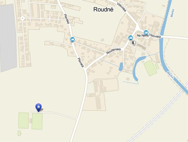Mapa Roudné